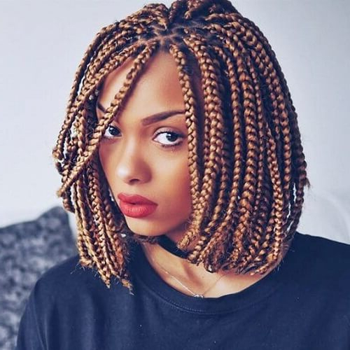 50 Glamorous Ways To Rock Box Braids   Hair Motive Hair Motive Intended For Best And Newest Blonde Asymmetrical Pigtails Braid Hairstyles (View 6 of 25)