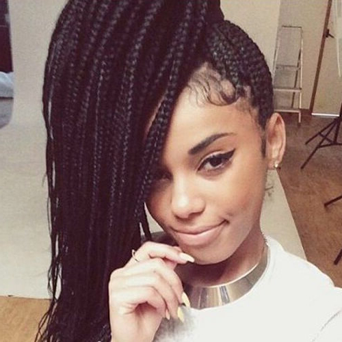 50 Glamorous Ways To Rock Box Braids | Hair Motive Hair Motive Intended For Most Recently Box Braid Bead Ponytail Hairstyles (View 7 of 25)