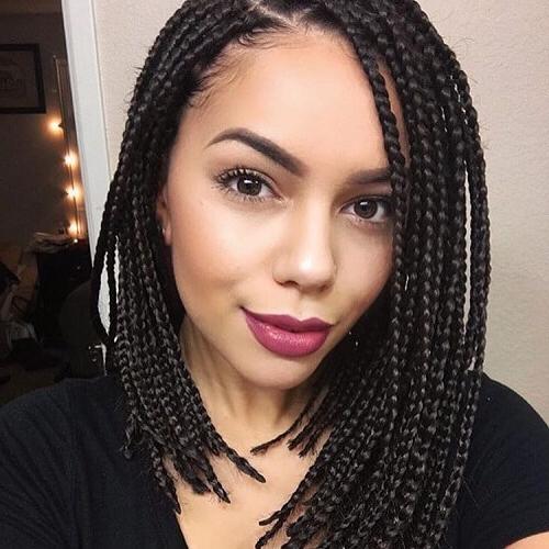 50 Glamorous Ways To Rock Box Braids   Hair Motive Hair Motive Pertaining To 2018 Half Up Box Bob Braid Hairstyles (View 24 of 25)