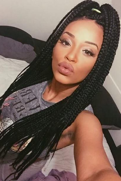 50 Goddess Braids Hairstyles   Herinterest/ Intended For Current Centre Parted Long Plaits Braid Hairstyles (View 20 of 25)