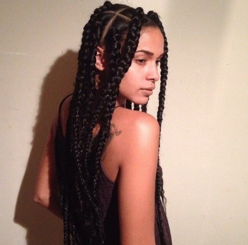 50 Goddess Braids Hairstyles   Herinterest/ Regarding Most Popular Centre Parted Long Plaits Braid Hairstyles (View 11 of 25)