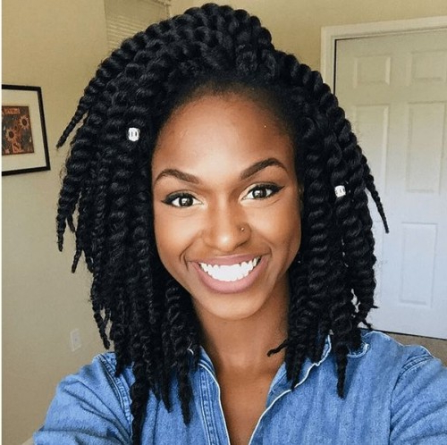 50 Goddess Braids Hairstyles   Herinterest/ With Most Recently Side Swept Yarn Twists Hairstyles (View 5 of 25)