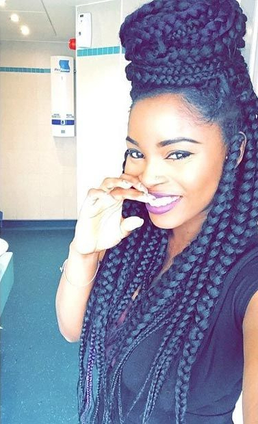 50 Goddess Braids Hairstyles   Herinterest/ With Regard To Most Recent Skinny Braid Hairstyles With Purple Ends (View 9 of 25)
