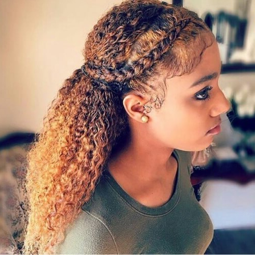 50 Hairstyle Ideas For Long Curly Haired Ladies | Hair Inside Latest Naturally Curly Braided Hairstyles (View 7 of 25)