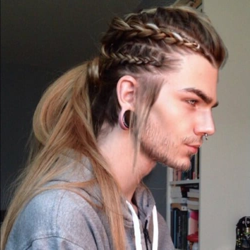 50+ Hairstyles To Channel Your Inner Viking | Men Hairstyles In Most Up To Date Forward Braided Hairstyles With Hair Wrap (View 22 of 25)