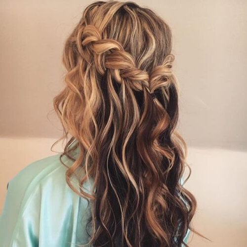 50 Half Up Half Down Hairstyles You'll Totally Love | Hair Intended For 2018 Half Up, Half Down Braid Hairstyles (View 13 of 25)