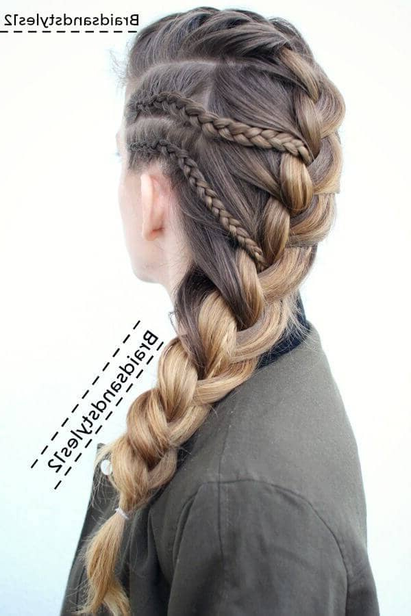 50 Inspiring Ideas For French Braids That Stand Out In 2019 For Most Up To Date Forward Braided Hairstyles With Hair Wrap (View 21 of 25)