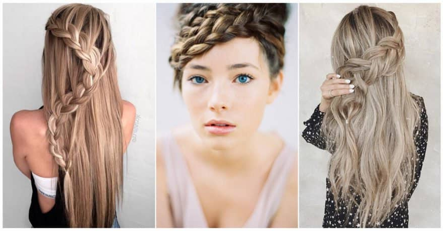 50 Inspiring Ideas For French Braids That Stand Out In 2019 Inside Most Popular Blonde Asymmetrical Pigtails Braid Hairstyles (View 20 of 25)