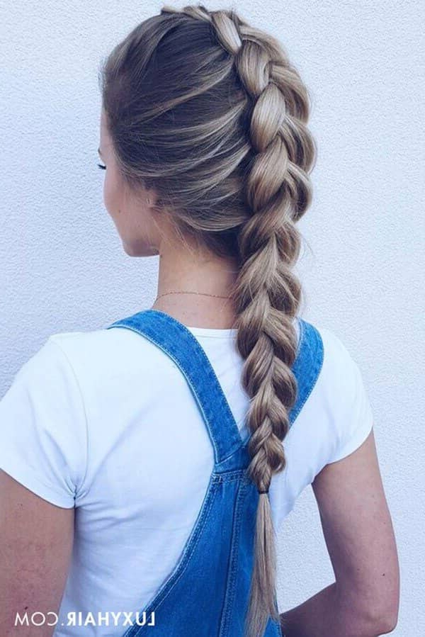 50 Inspiring Ideas For French Braids That Stand Out In 2019 Throughout Most Recently Softly Pulled Back Braid Hairstyles (View 15 of 25)