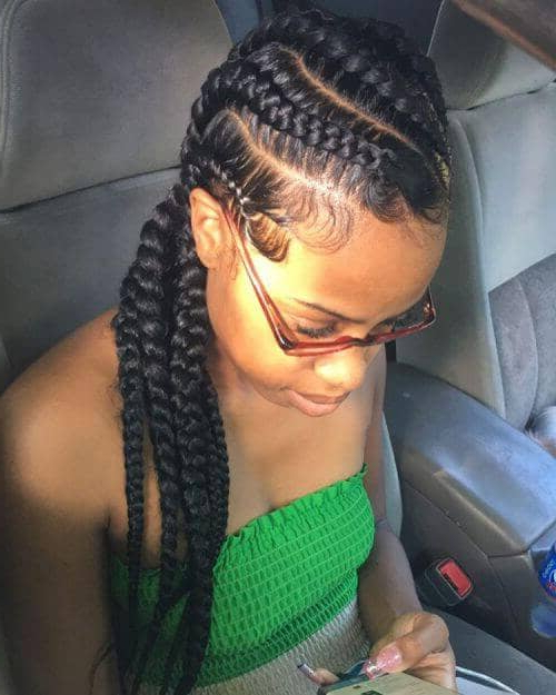 50 Natural Goddess Braids To Bless Ethnic Hair In 2019 In Newest Goddess Braided Hairstyles With Beads (View 11 of 25)