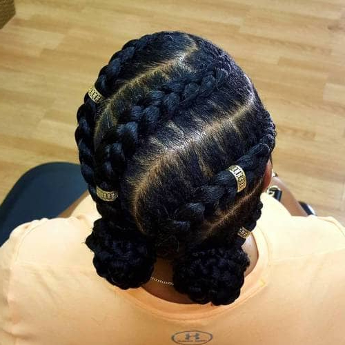 50 Natural Goddess Braids To Bless Ethnic Hair In 2019 Throughout Most Popular Long And Big Cornrows Under Braid Hairstyles (View 23 of 25)