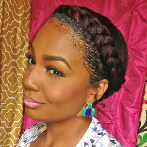 50 Protective Hairstyles For Natural Hair For All Your Needs With Most Recently Voluminous Halo Braided Hairstyles (View 21 of 25)