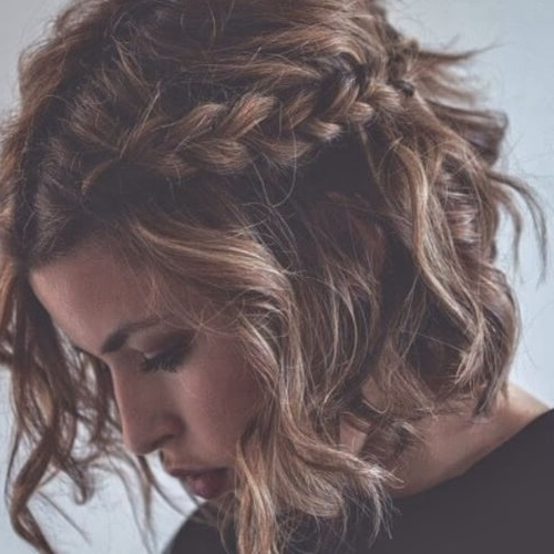 50 Ravishing Short Hairstyles For Curly Hair | Hair Motive For Current Angled Braided Hairstyles On Crimped Hair (View 13 of 25)