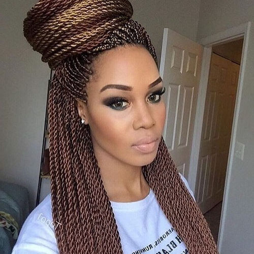 50 Sensational Styling Ideas For Senegalese Twists | Hair Inside Newest Micro Twist Ponytail Hairstyles (View 6 of 25)