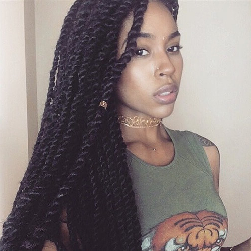50 Sensational Styling Ideas For Senegalese Twists | Hair Within Best And Newest Wide Crown Braided Hairstyles With A Twist (View 19 of 25)