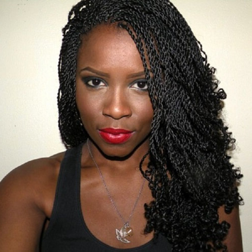 50 Sensational Styling Ideas For Senegalese Twists | Hair Within Recent Black Twists Micro Braids With Golden Highlights (View 14 of 25)