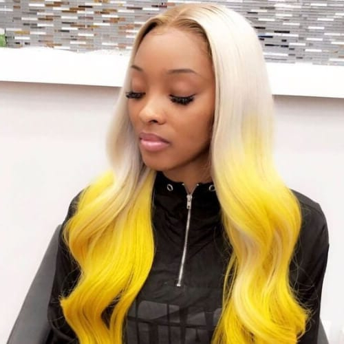 50 Sew In Weave Hairstyles For A Glamorous New You | All Regarding Best And Newest Red, Orange And Yellow Half Updo Hairstyles (View 23 of 25)