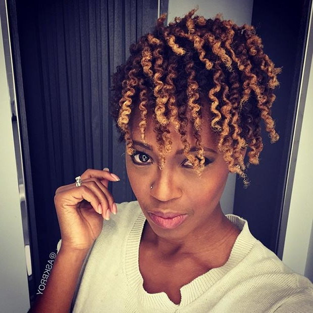50 Short Hairstyles For Black Women | Stayglam Pertaining To Recent Wavy Bob Hairstyles With Twists (View 21 of 25)