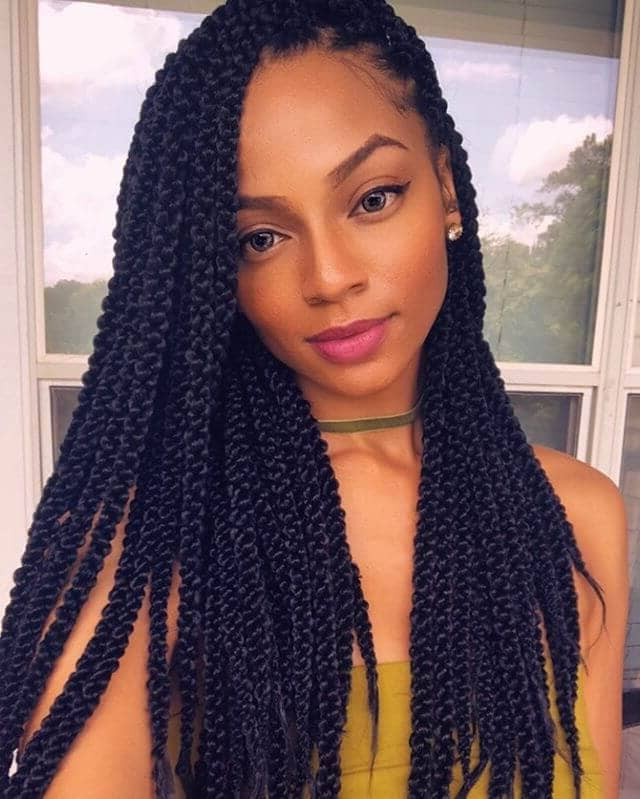 50 Stunning Crochet Braids To Style Your Hair For 2019 Inside Latest Skinny Braid Hairstyles With Purple Ends (View 10 of 25)