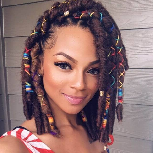 50 Stunning Crochet Braids To Style Your Hair For 2019 Inside Most Current Multicolored Bob Braid Hairstyles (View 7 of 25)