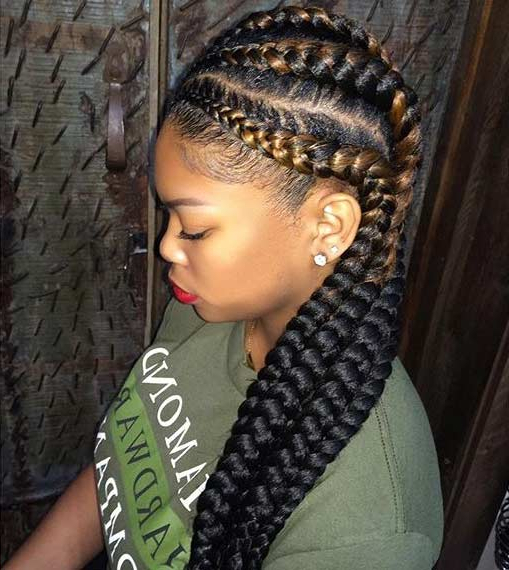 51 Best Ghana Braids Hairstyles   Page 3 Of 5   Stayglam In Most Recent Chunky Ghana Braid Hairstyles (View 13 of 25)