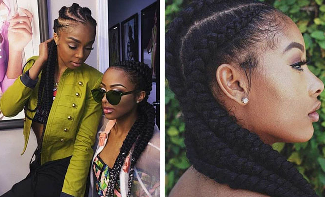 51 Best Ghana Braids Hairstyles   Page 3 Of 5   Stayglam Regarding Latest Chunky Ghana Braid Hairstyles (View 5 of 25)