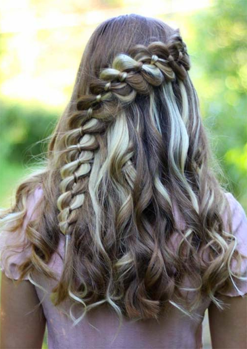 51 Chic Long Curly Hairstyles: How To Style Curly Hair – Glowsly With Current Angled Braided Hairstyles On Crimped Hair (View 7 of 25)