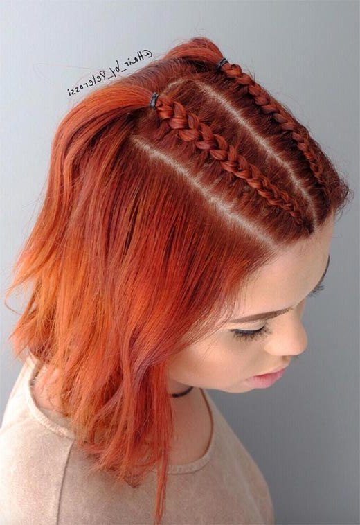 51 Cute Braids For Short Hair: Short Braided Hairstyles For For Most Up To Date Long And Short Bob Braid Hairstyles (View 24 of 25)