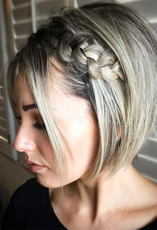 51 Cute Braids For Short Hair: Short Braided Hairstyles For In Most Recently Royal Braided Hairstyles With Highlights (View 18 of 25)