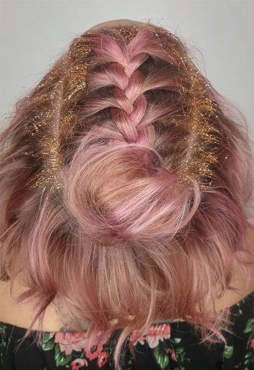 51 Cute Braids For Short Hair: Short Braided Hairstyles For With Regard To Best And Newest Angled Braided Hairstyles On Crimped Hair (View 10 of 25)