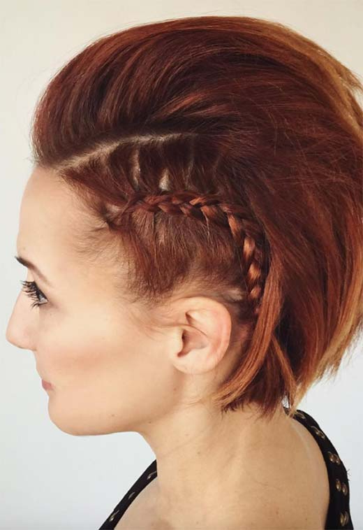 51 Cute Braids For Short Hair: Short Braided Hairstyles For With Regard To Latest Tiny Braid Hairstyles In Crop (View 12 of 25)