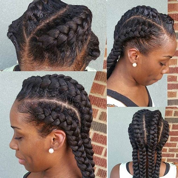 51 Goddess Braids Hairstyles For Black Women | Stayglam Throughout Most Recent Goddess Braided Hairstyles With Beads (View 13 of 25)