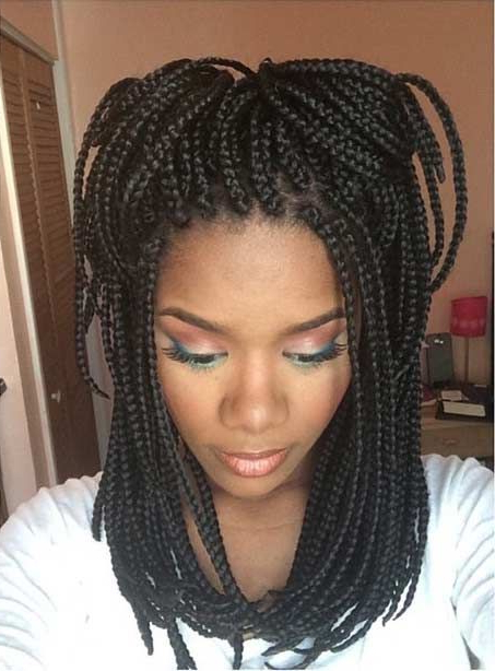 51 Hot Poetic Justice Braids Styles | Stayglam Hairstyles Intended For Most Recently Black Shoulder Length Braids With Accents (View 7 of 25)