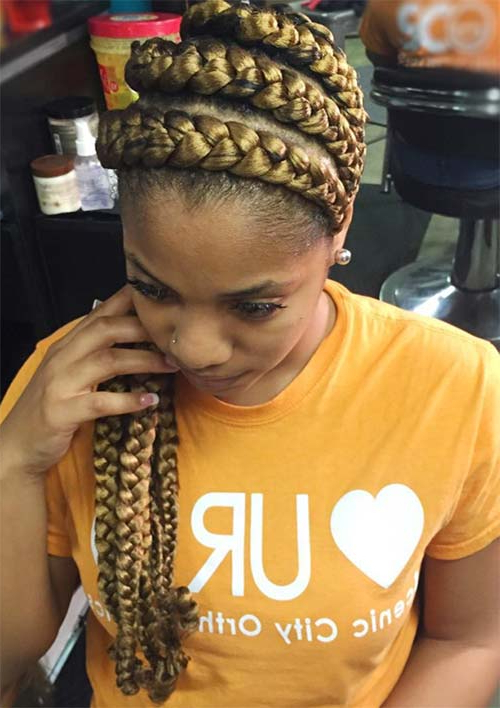 53 Goddess Braids Hairstyles – Tips On Getting Goddess Pertaining To Most Recent Long And Big Cornrows Under Braid Hairstyles (View 20 of 25)