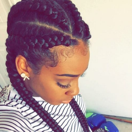 55 Flattering Goddess Braids Ideas To Inspire You | Hair For Newest Angled Cornrows Hairstyles With Braided Parts (View 15 of 25)