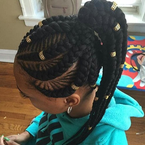 55 Flattering Goddess Braids Ideas To Inspire You | Hair With Current Goddess Braided Hairstyles With Beads (View 12 of 25)