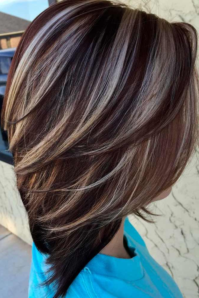 55 Highlighted Hair For Brunettes   Hair   Hair Color, Hair With Regard To Best And Newest Tiny Twist Hairstyles With Caramel Highlights (View 3 of 25)