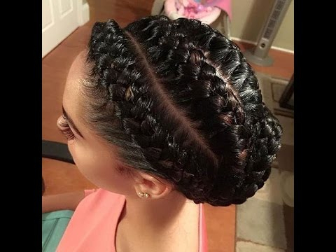 55 Of The Most Stunning Styles Of The Goddess Braid Within Recent Thick Cornrows Bun Hairstyles (View 12 of 25)