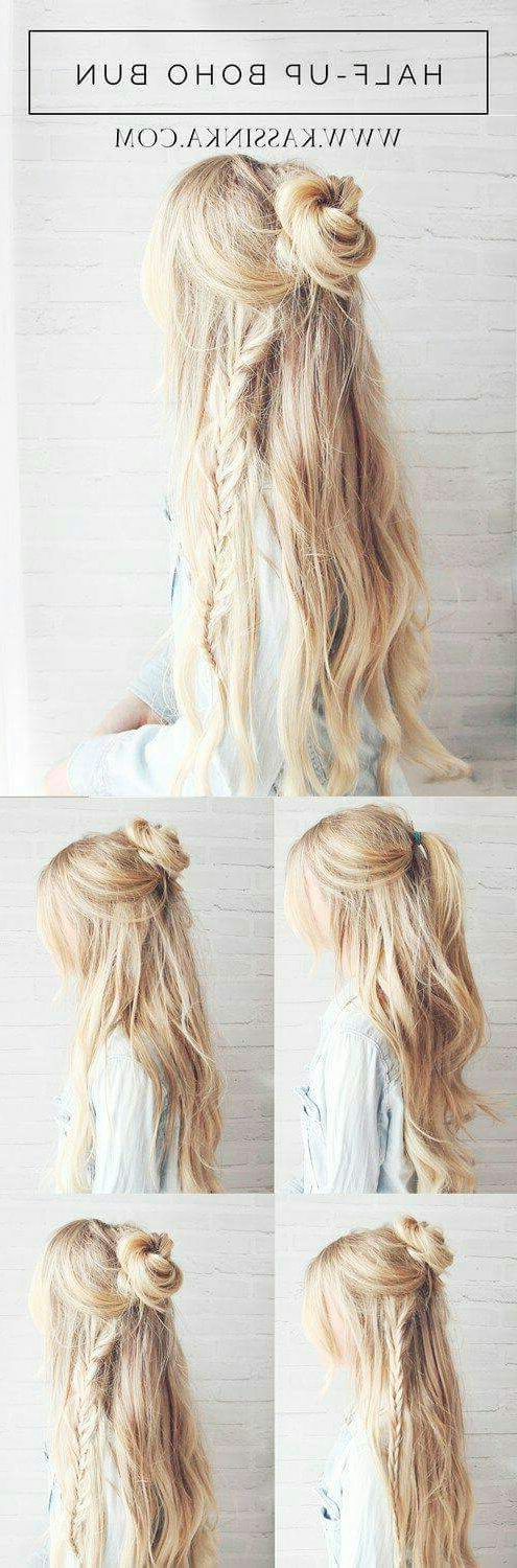 55+ Trendy Head Turning Boho (Bohemian) Hairstyles For All For Most Recently Boho Half Braid Hairstyles (View 17 of 25)