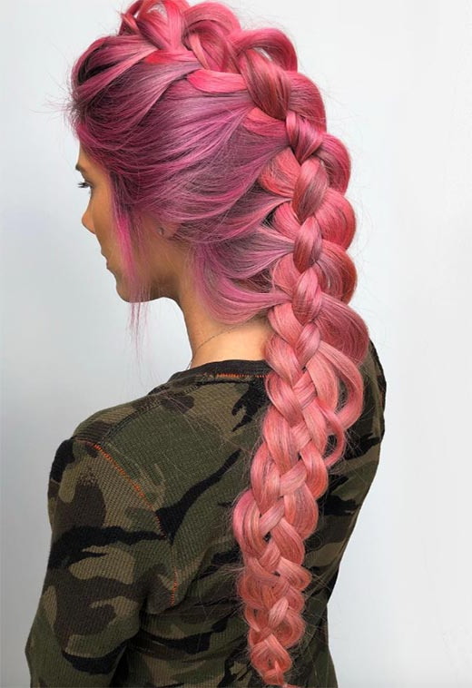 57 Amazing Braided Hairstyles For Long Hair For Every For Most Recent Pink Rope Braided Hairstyles (View 10 of 25)