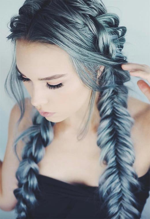 57 Amazing Braided Hairstyles For Long Hair For Every Throughout 2018 Thick Two Side Fishtails Braid Hairstyles (View 11 of 25)