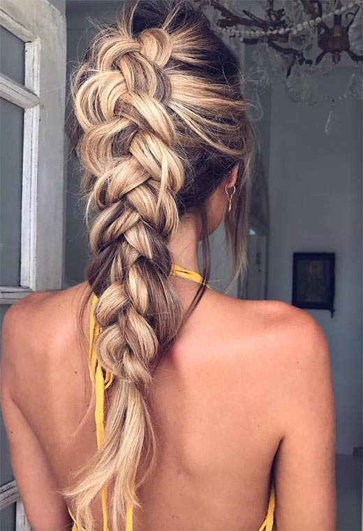 57 Amazing Braided Hairstyles For Long Hair For Every Within Recent Loose 4 Strand Rope Braid Hairstyles (View 12 of 25)