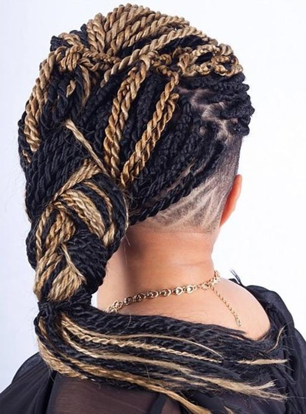 57 Pics Of Kinky Twist 'dos For Various Events & Vogues Intended For Best And Newest Undershave Micro Braid Hairstyles (View 14 of 25)