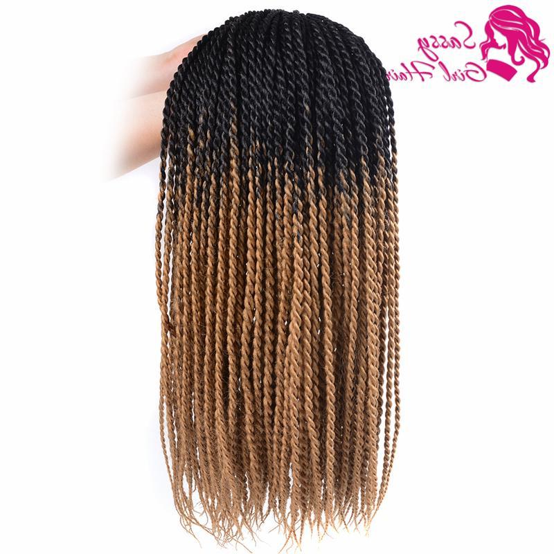 5Packs 24 Senegalese Twist Crochet Hair Braids Twist Crochet Braiding Hair Senegalese Twists Hairstyles For Black Women (Black/light Brown) Inside Current Black And Brown Senegalese Twist Hairstyles (View 6 of 25)