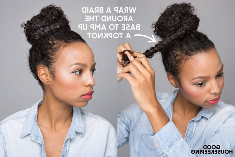 6 Braided Top Knots To Give You Hair Envy Throughout Best And Newest Braided Topknot Hairstyles With Beads (View 19 of 25)