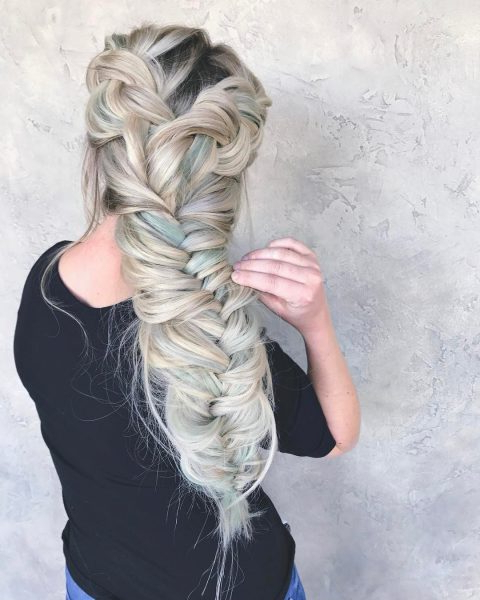 60 Best Braids, Braid Styles, Braided Hairstyles For Women 2019 For Latest Oversized Fishtail Braided Hairstyles (View 23 of 25)