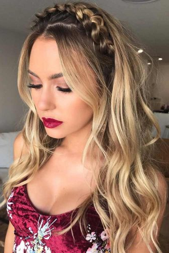 60+ Crown Braid Styling Ideas   Lovehairstyles With Regard To Most Up To Date Tight Braided Hairstyles With Headband (View 21 of 25)