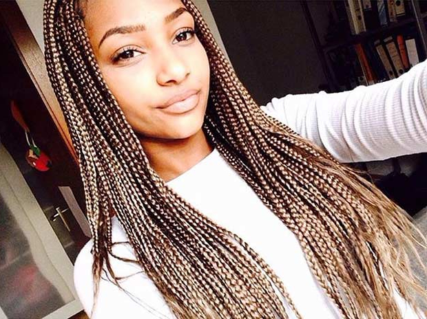 61 Beautiful Micro Braids Hairstyles | Page 3 Of 6 | Stayglam With Regard To Recent Red And Brown Micro Braid Hairstyles (View 21 of 25)
