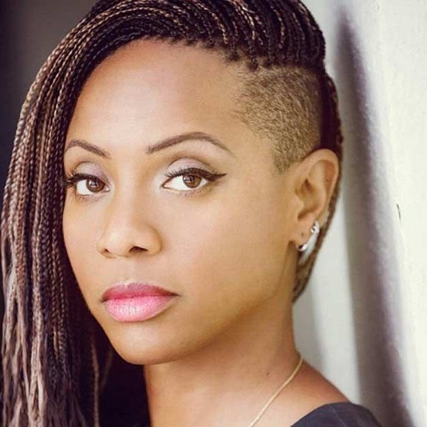 Featured Photo of Tree Micro Braids With Side Undercut