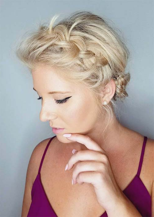 63 Creative Updos For Short Hair Perfect For Any Occasion Regarding Latest Bumped And Bobbed Braided Hairstyles (View 25 of 25)